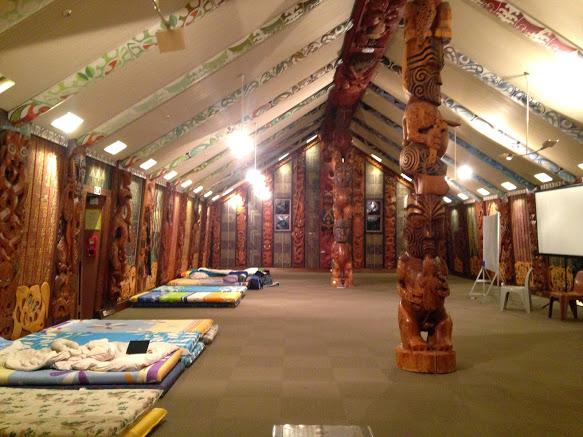 sleeping arrangements inside the marae